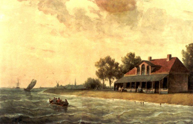 Schilderij van J.F. Schutz uit 1855